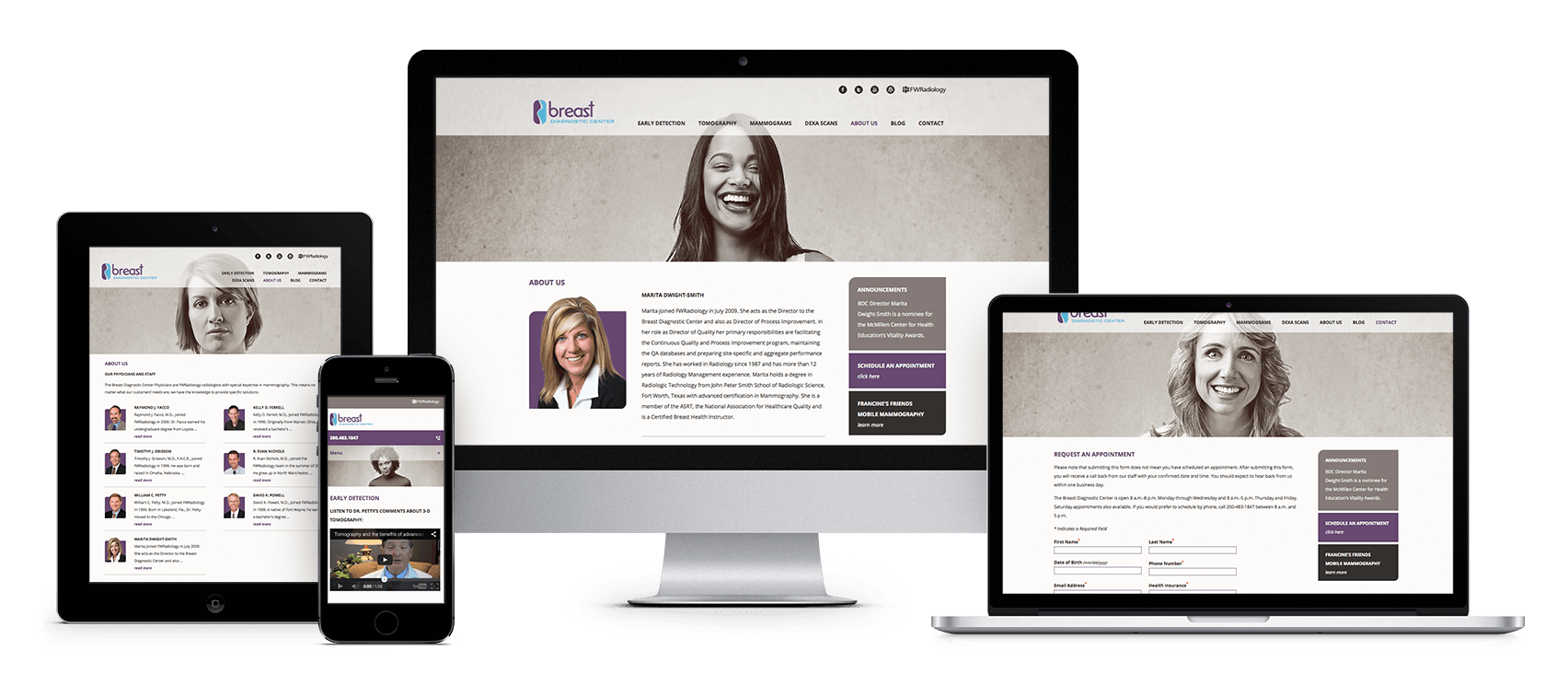 Breast Diagnostic Center responsive website