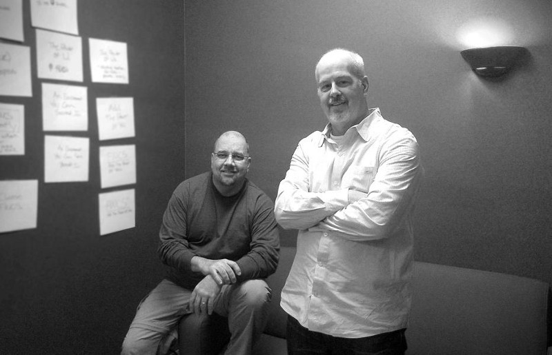 Kelly Gayer and Dan Schroeter at Asher Agency