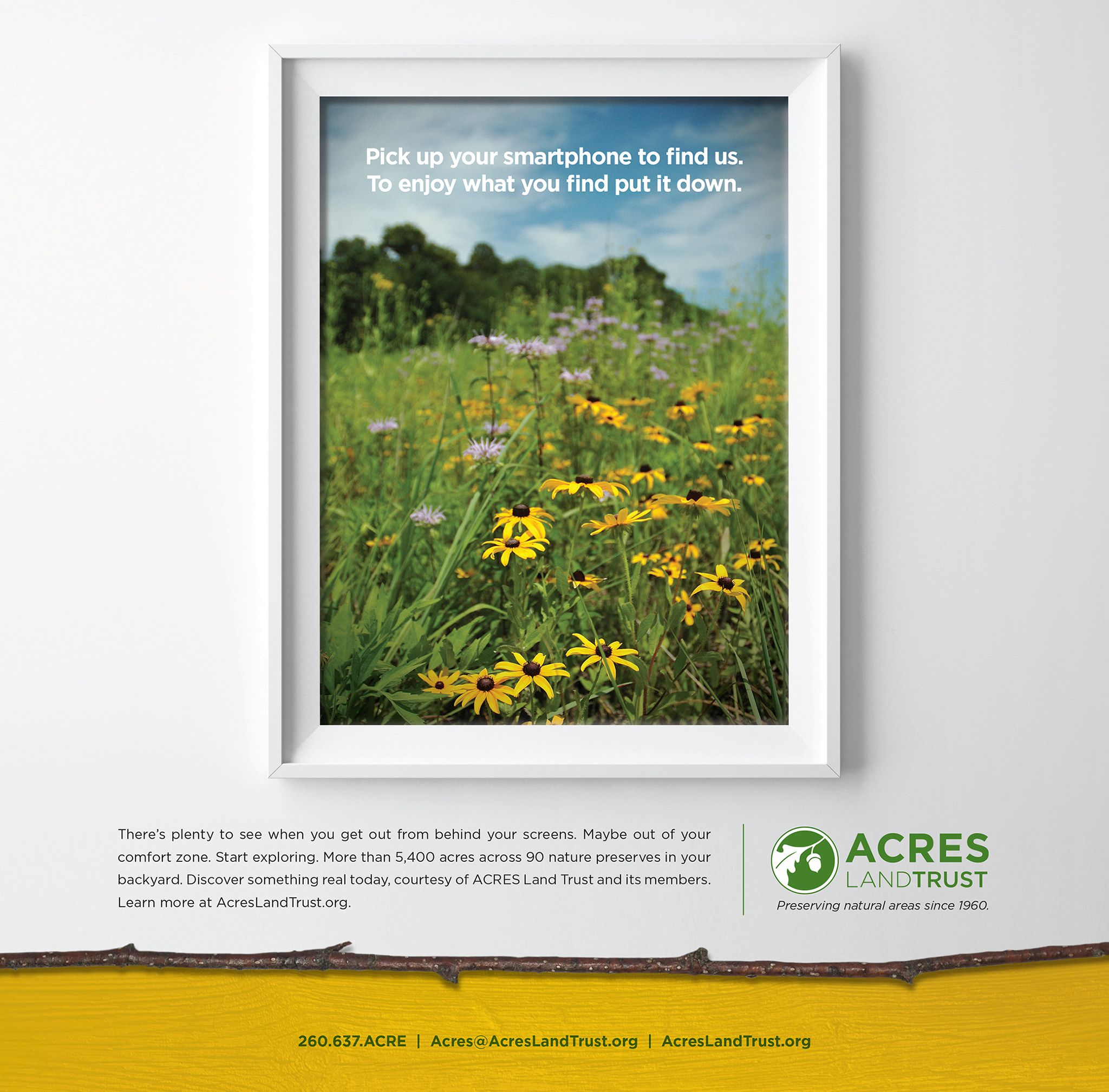 Acres Land Trust Print Ad