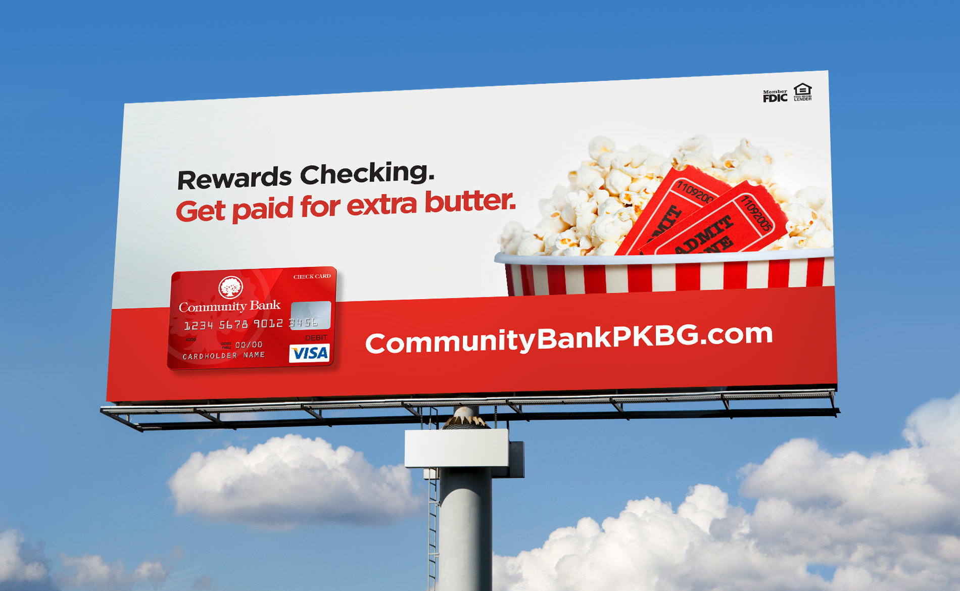Community Bank, Rewards Checking: Outdoor