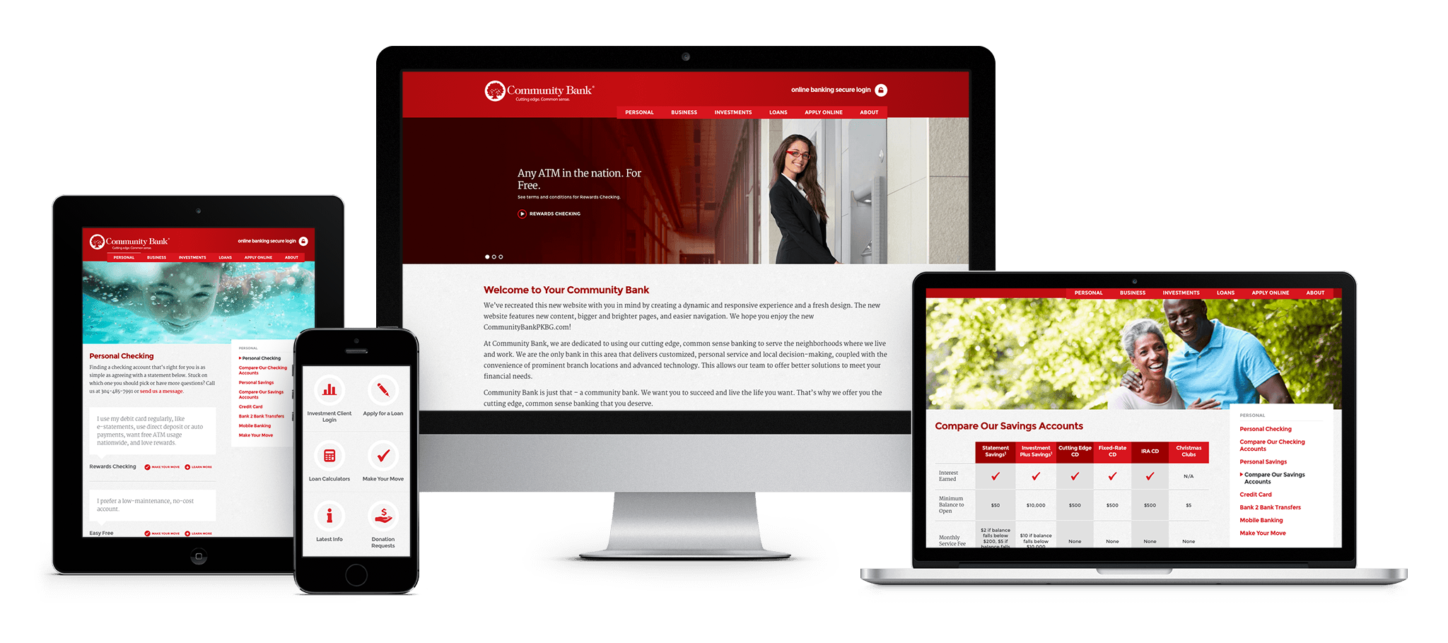 Community Bank responsive website