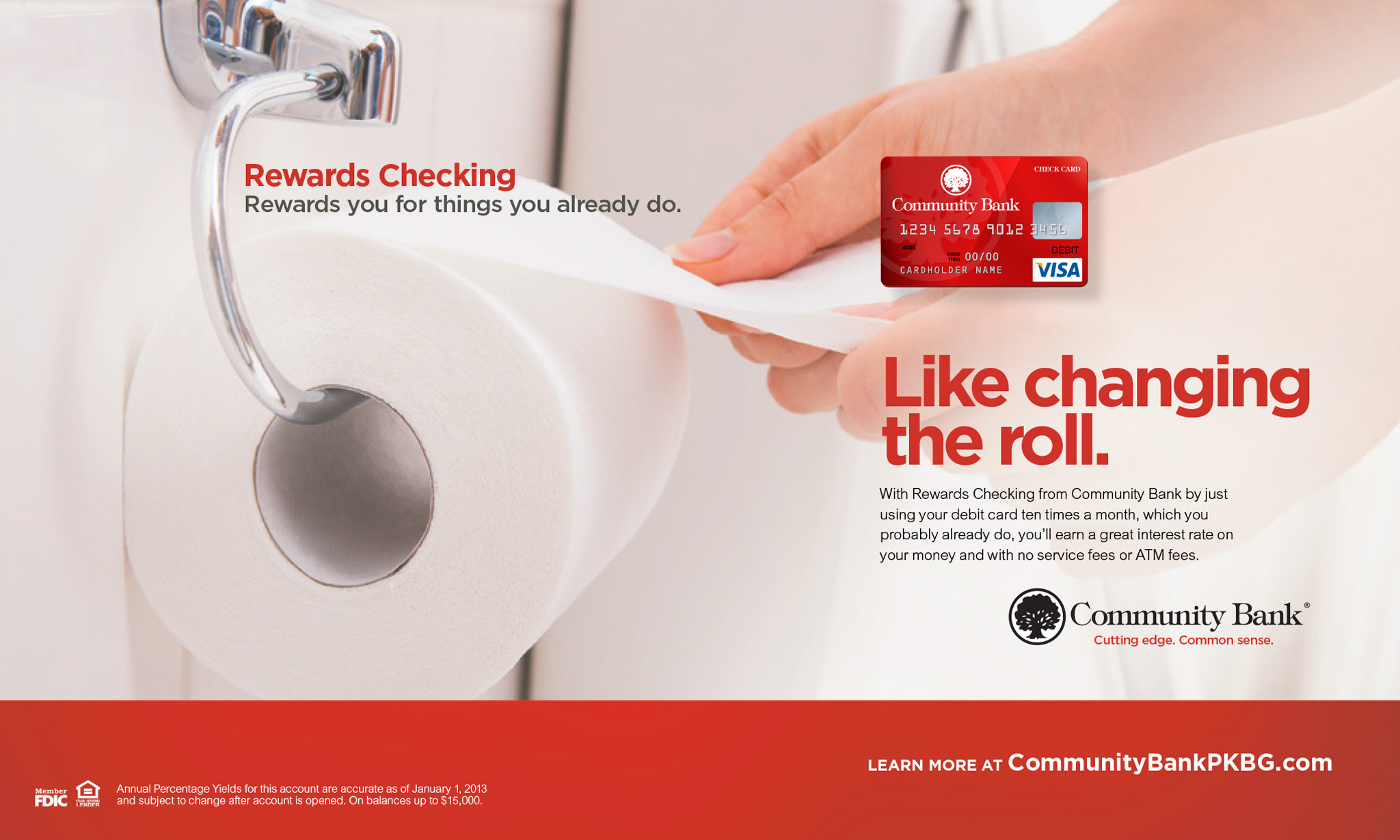 Community Bank, Rewards Checking: Print Ad