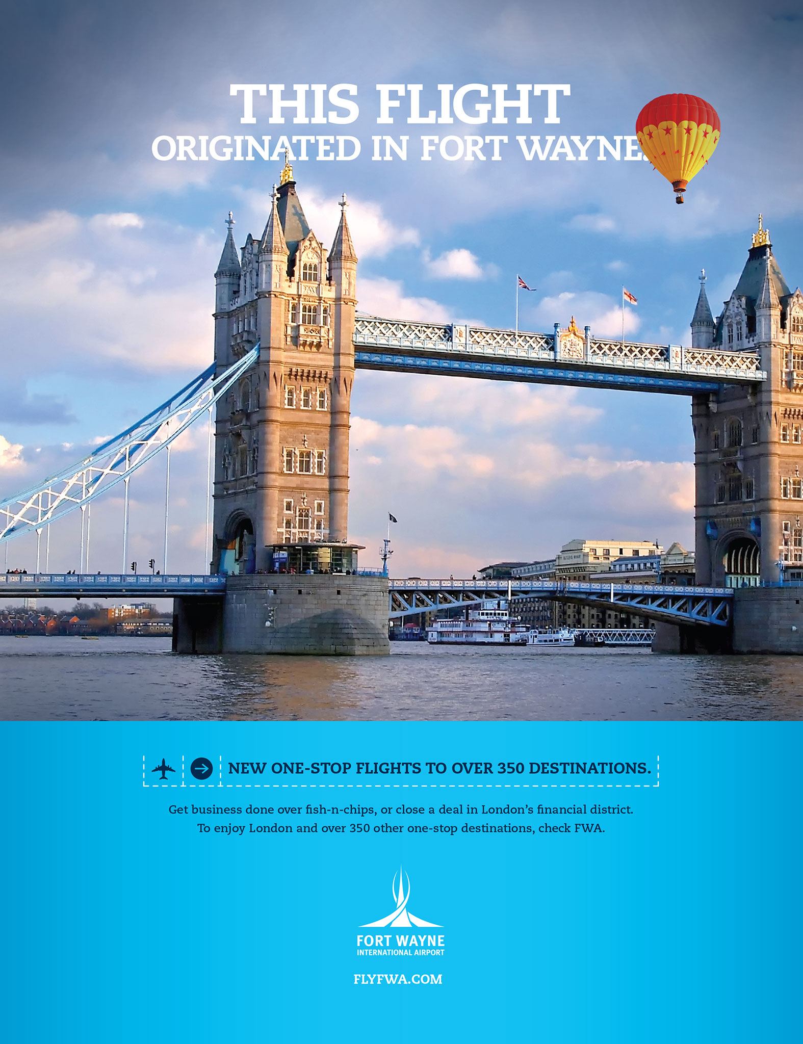 Fort Wayne International Airport print ad