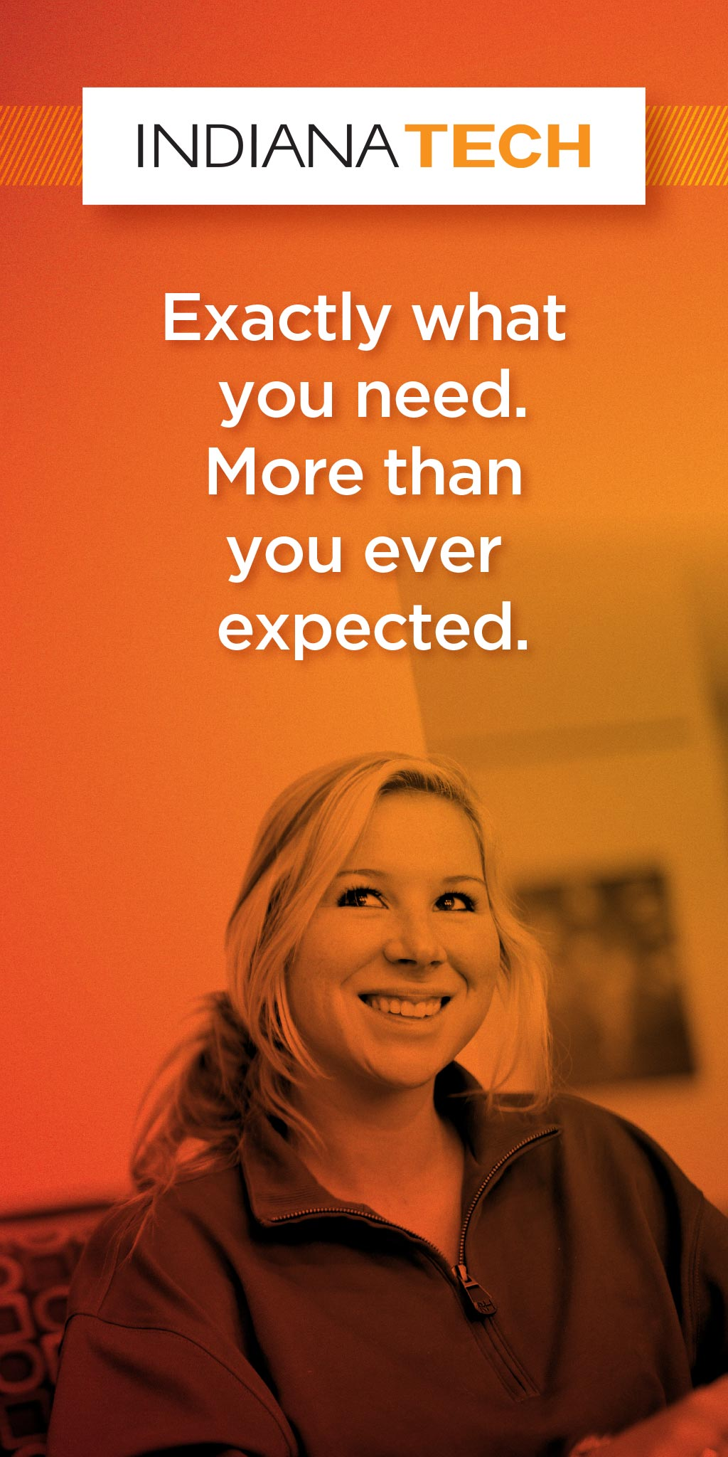 Indiana Tech: web banner