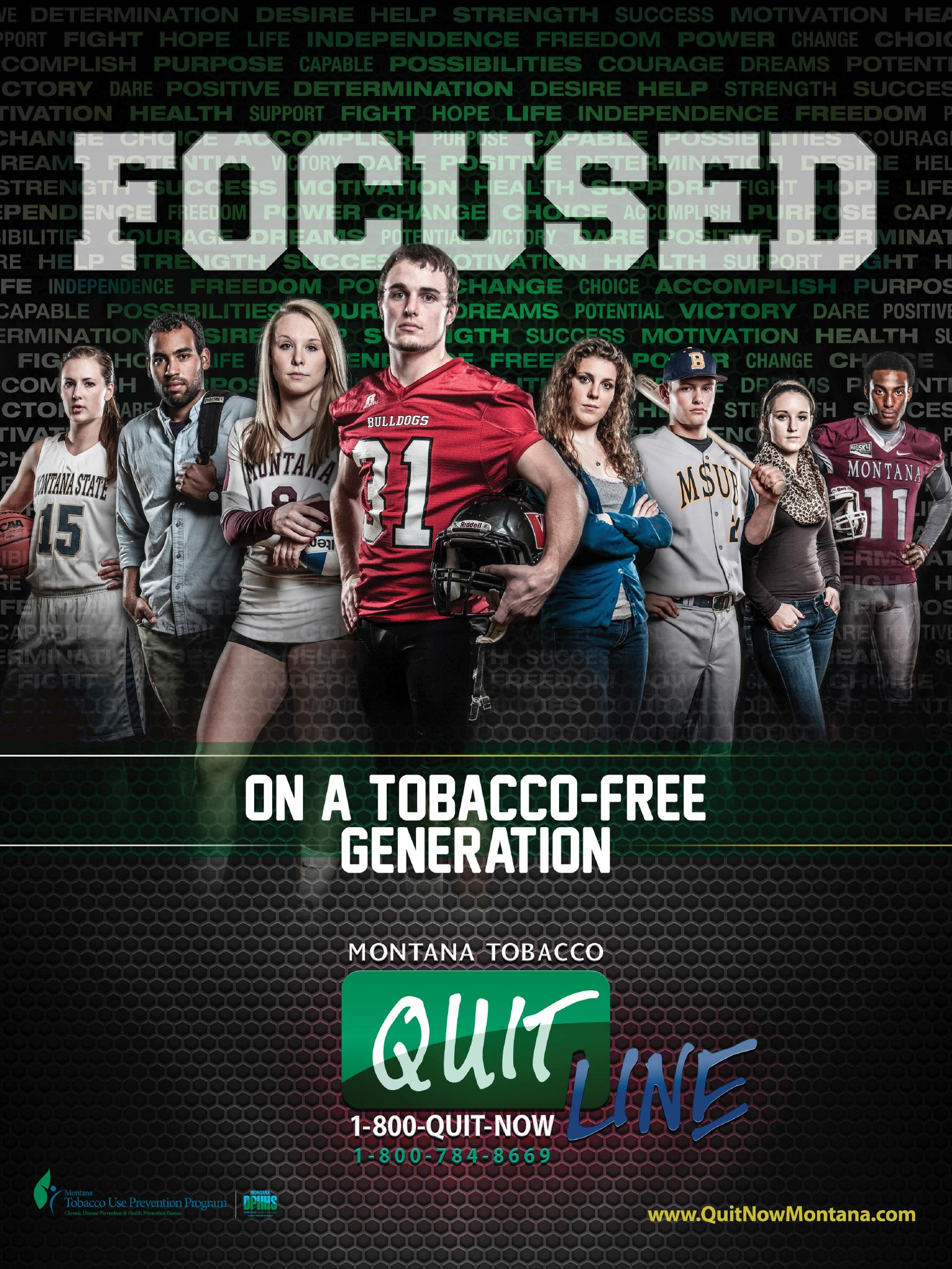 Montana Tobacco Use Prevention Program: College Athletics Poster