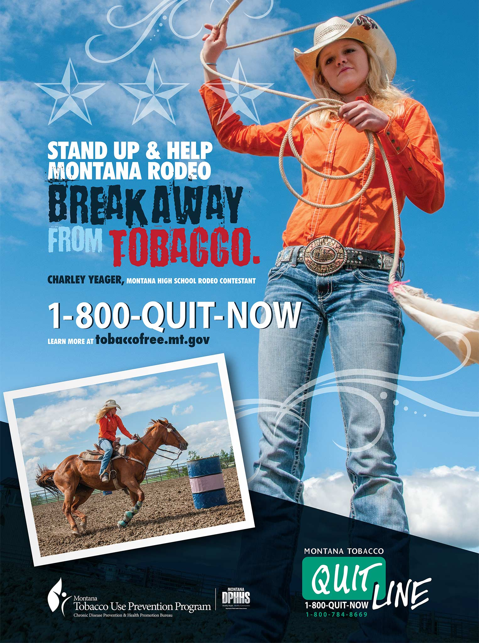 Montana Tobacco Use Prevention Program: Rodeo Poster