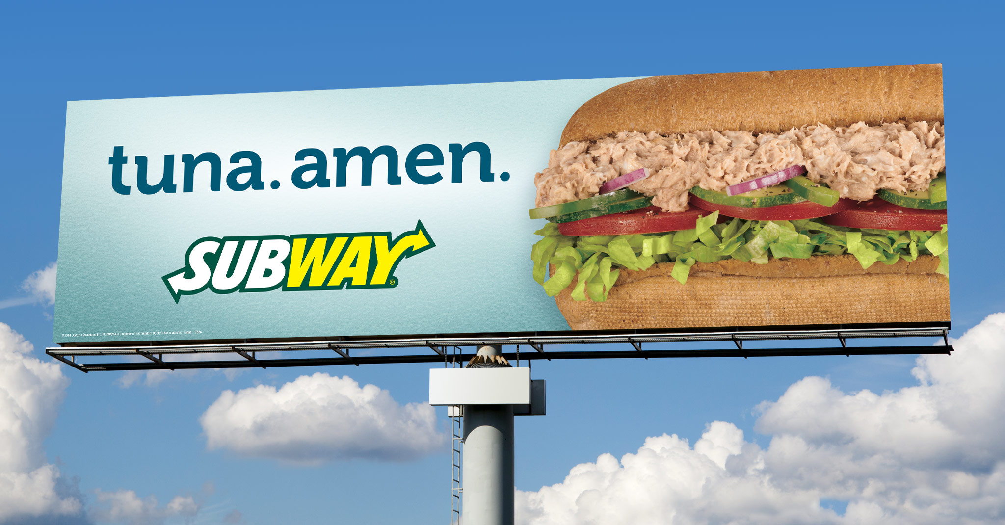 Subway, Out of Home & Print: Tuna Outdoor