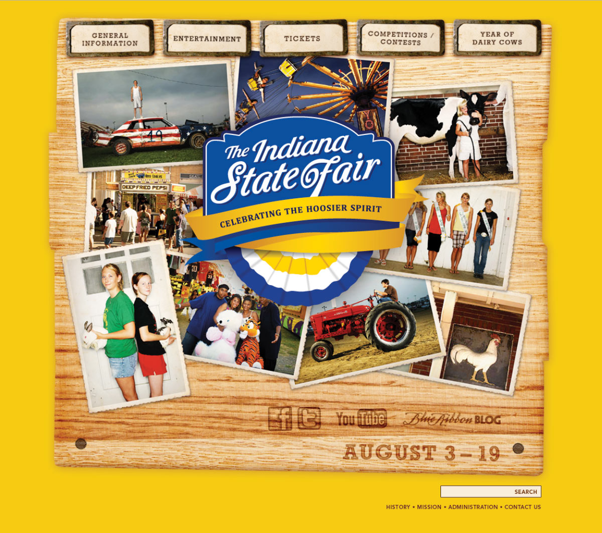 Indiana State Fair: 2012 Website