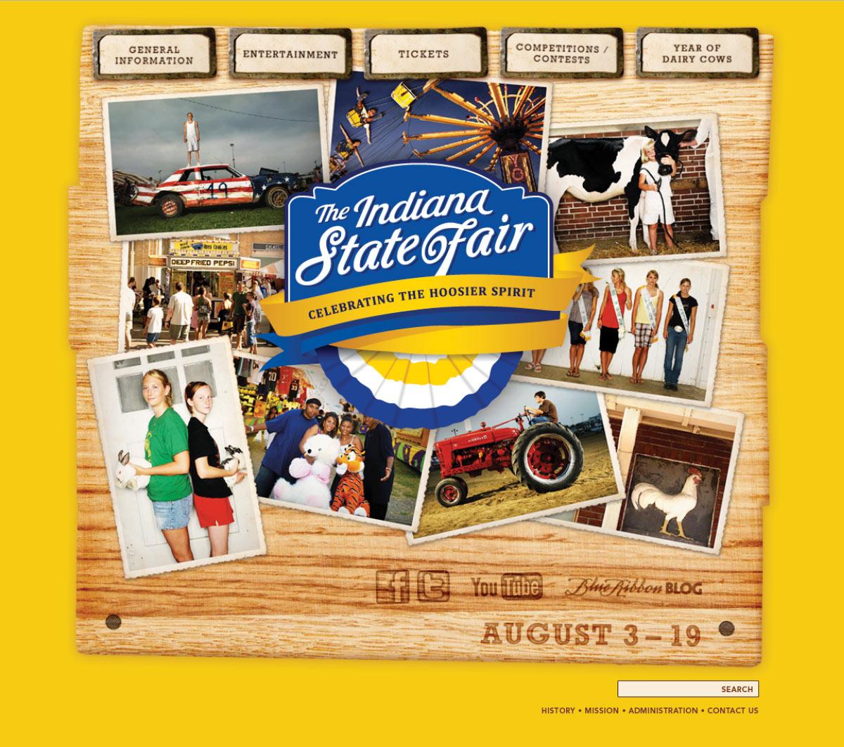 Indiana State Fair: 2012 Website