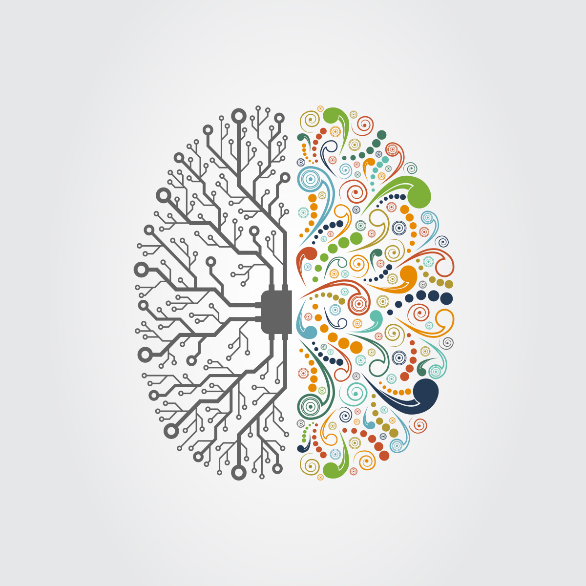 analytical brain vs. creative brain