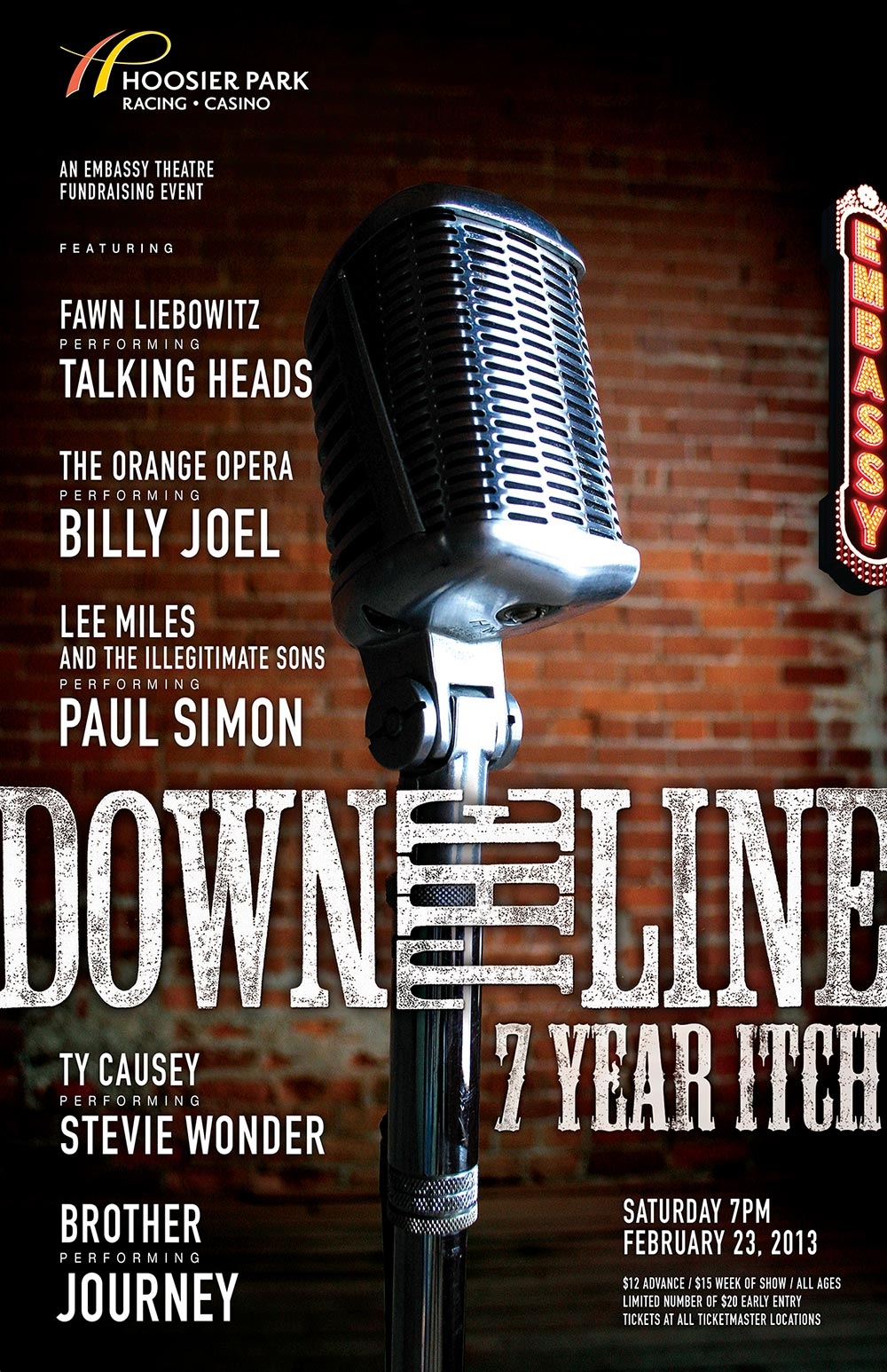 Fort Wayne Embassy Theatre: Down the Line 7 poster