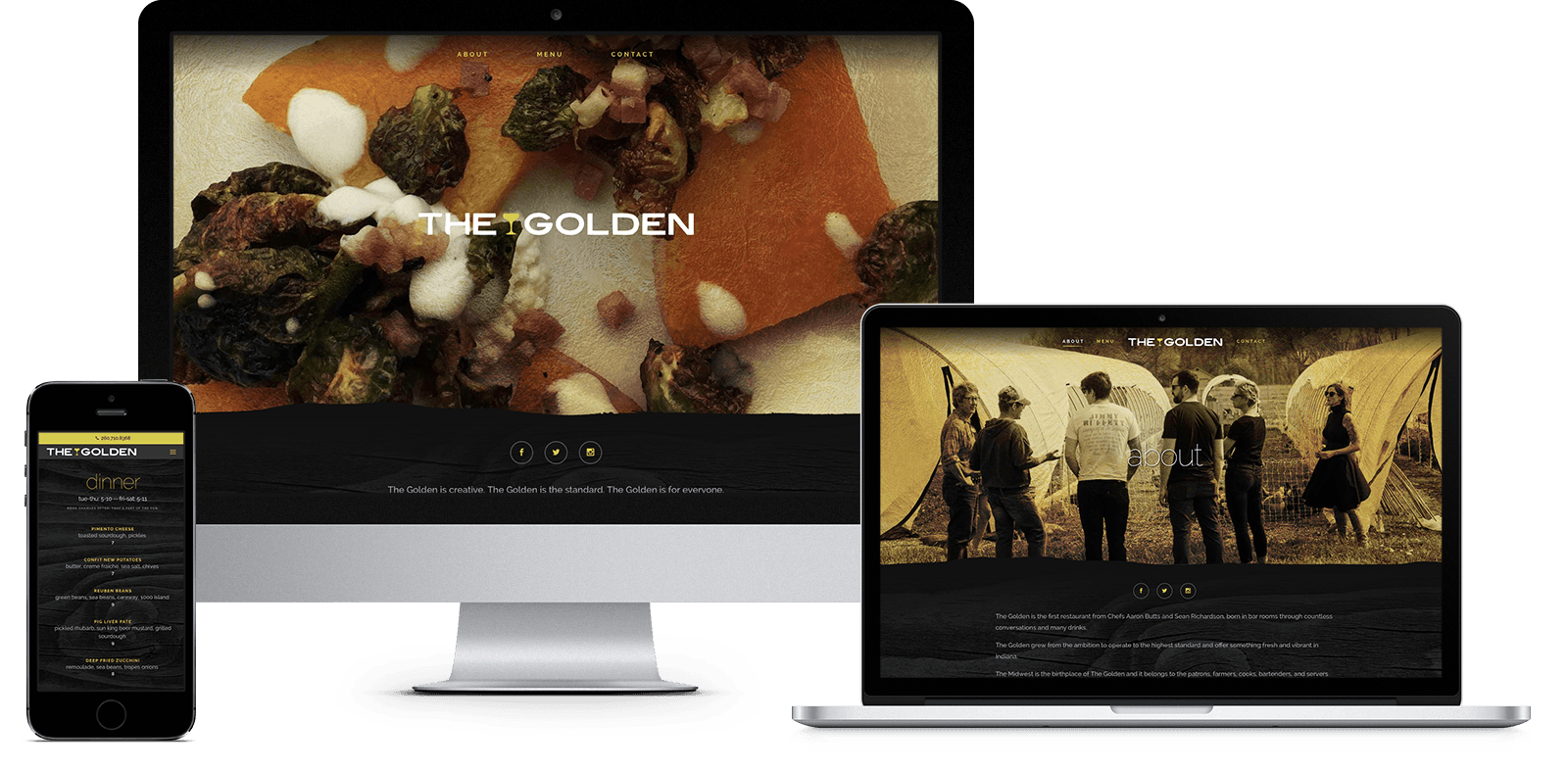 The Golden: responsive website