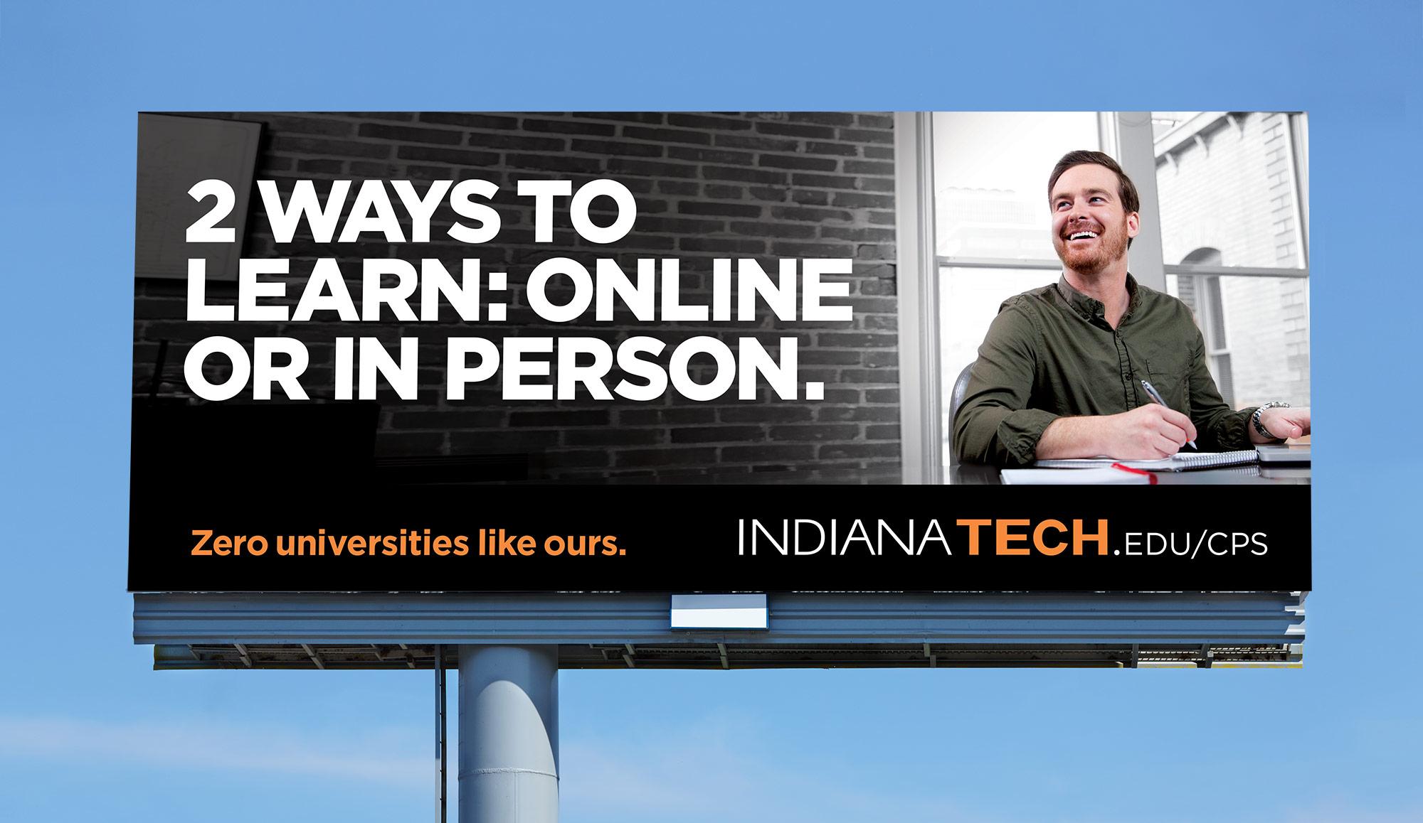 Indiana Tech: Zero Universities Like Ours outdoor