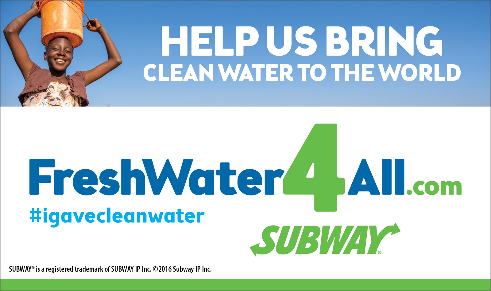 Subway: FreshWater4All Digital Ad