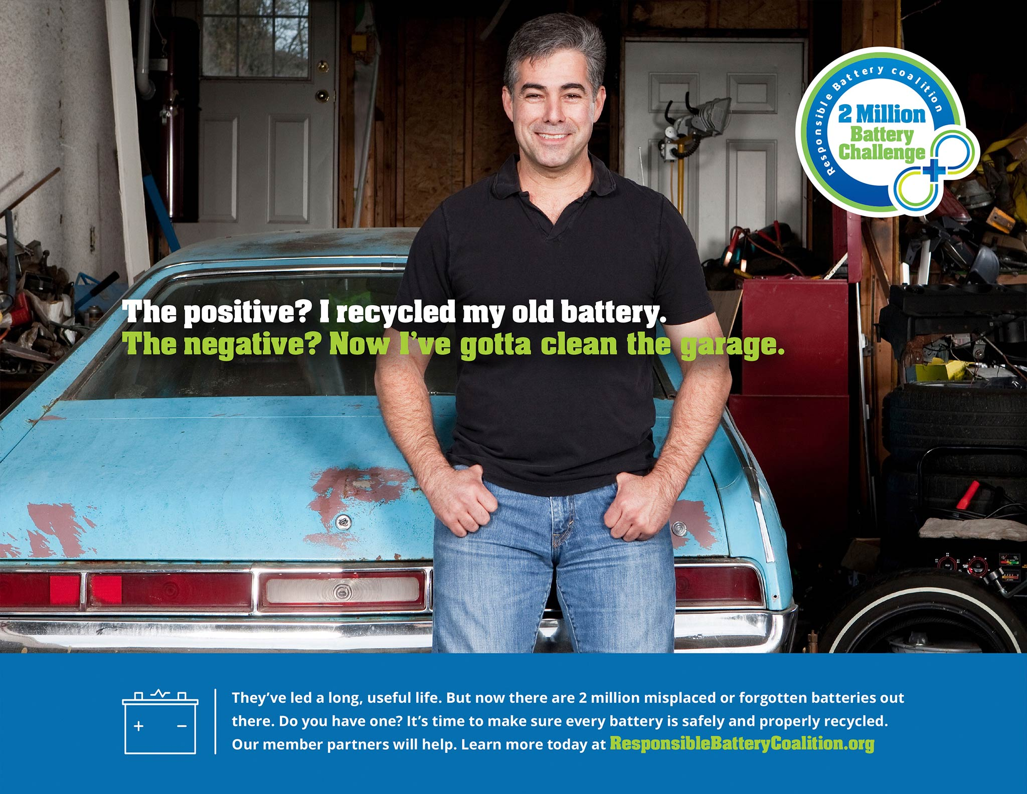 Responsible Battery Coalition, 2 Million Battery Challenge Print Ad