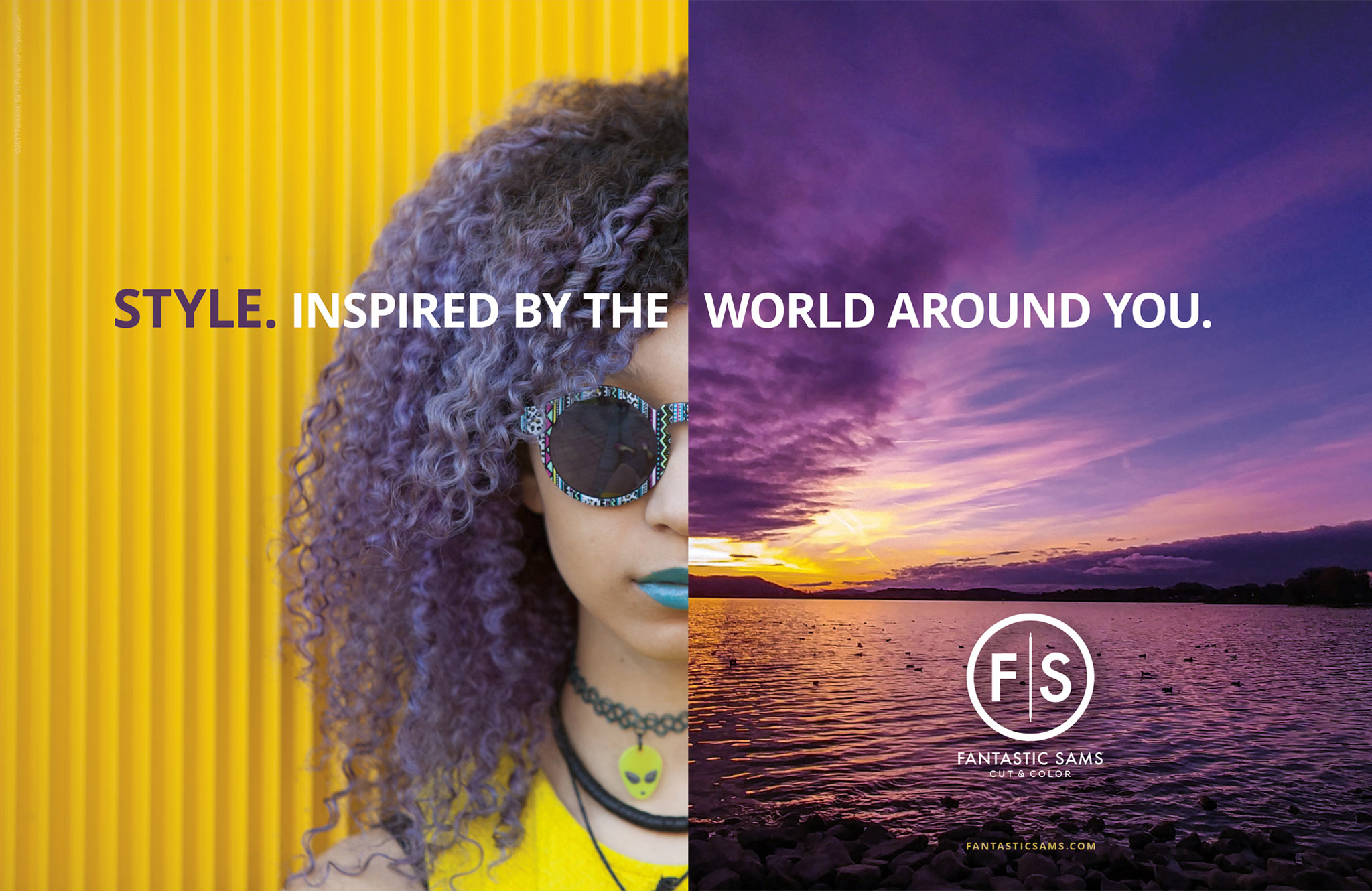 Fantastic Sams: Color Inspired by the World Print Ad