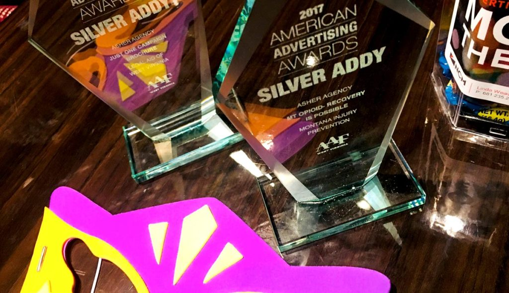 Asher West Virginia Office Won Several Addy Awards