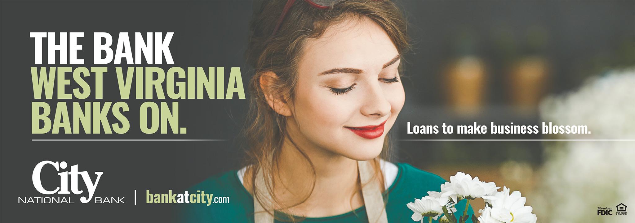 City National Bank, Make Business Blossom Print Ad