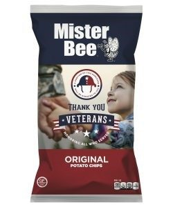 "Mister Bee ""Salute Our Veterans"" chip bag"