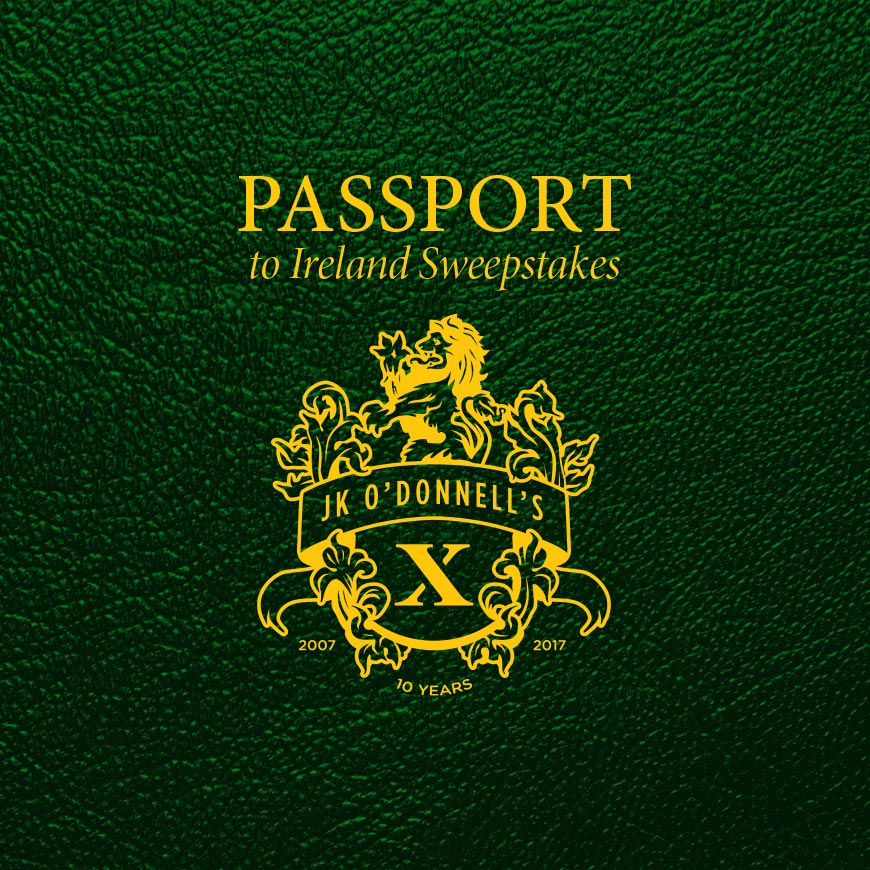JK O'Donnell's, Passport to Ireland Sweepstakes